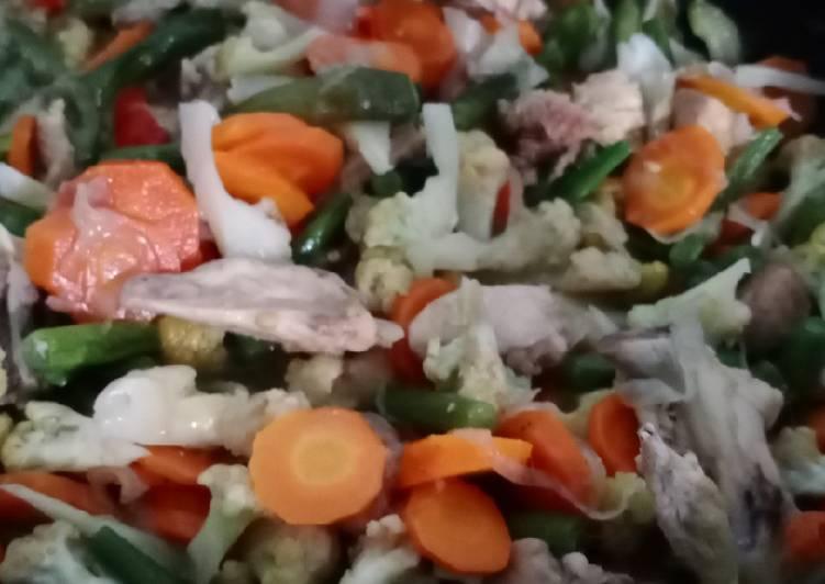 Capcay Ayam Pedas