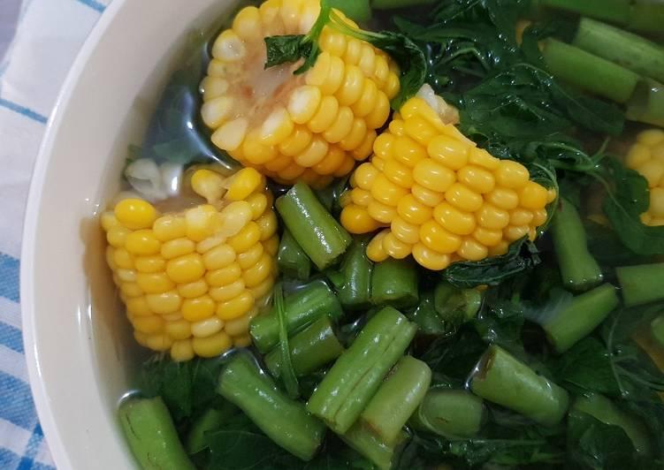 Sayur Bening Bayam + Buncis + Jagung