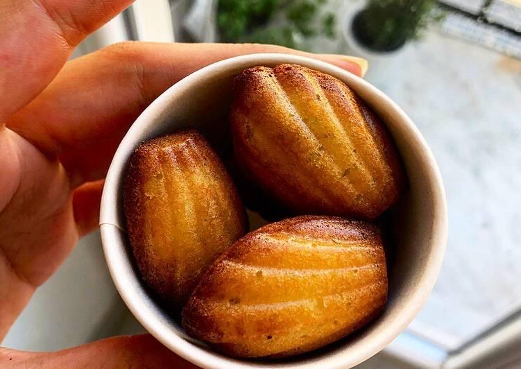 Mini madeleines natures et au citron 🍋