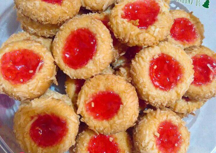 Thumbprint Cookies Strawberry 🍓 😋
