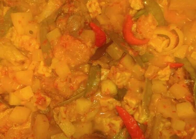Sambel goreng krecek tempe plus kentang