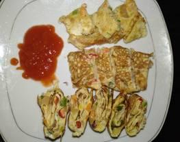 Telur dadar korea simpel - gyeran mari (makanan sehari hari)