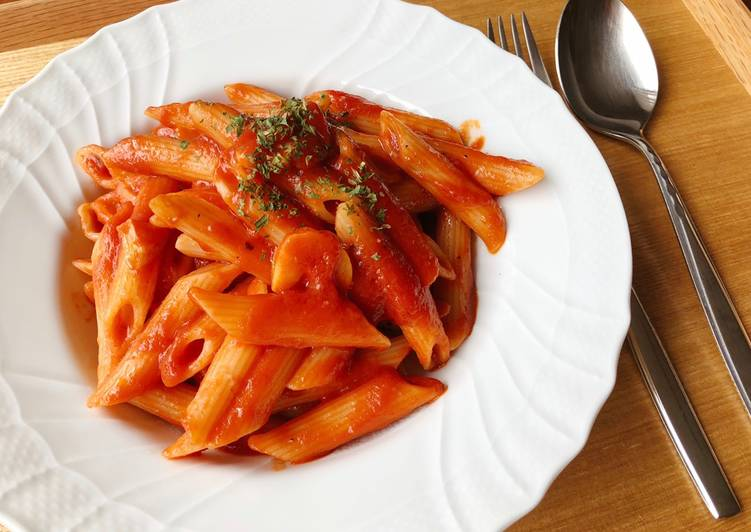 How to Cook Tasty Simple Penne with Tomato Sauce