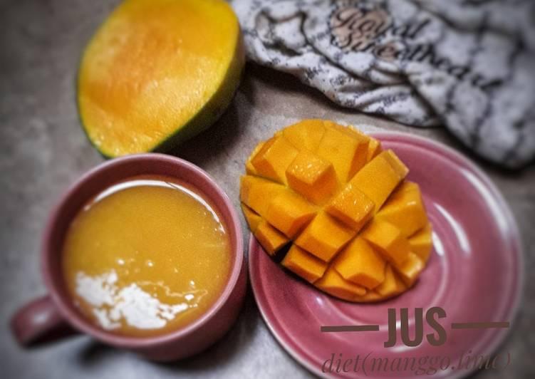 Langkah Mudah untuk Membuat Jus diet(mango.lime), Bikin Ngiler
