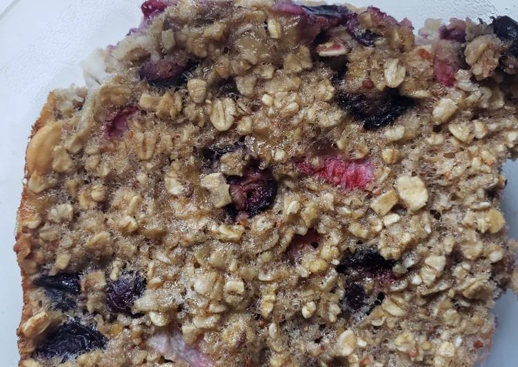 Recipe: Tasty Healthy Baked Oatmeal