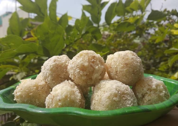 Coconut, apple laddu