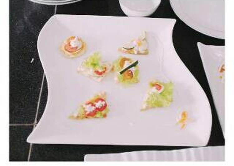 Canape sayur Sebagai Appetizer(hidangan pembuka dingin)