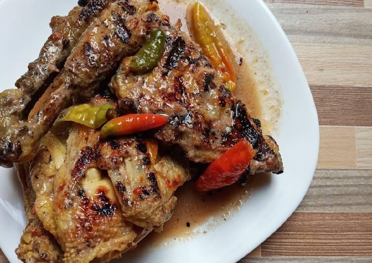 Cara Gampang Membuat Ayam Panggang Kuah Santan Anti Gagal