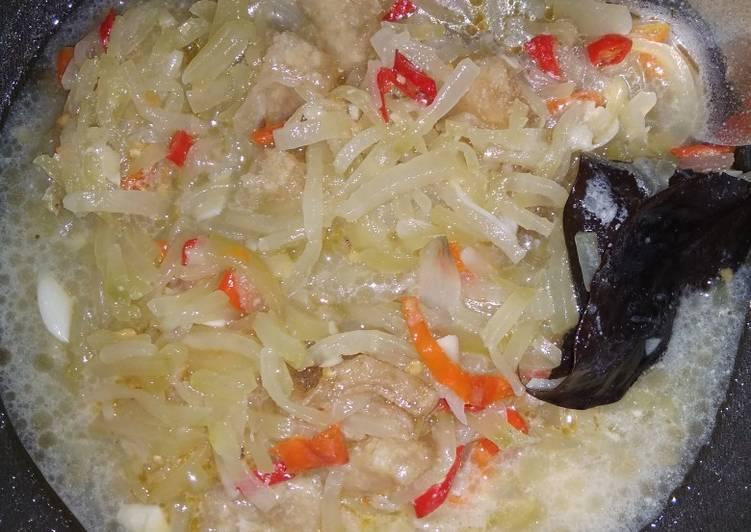 Sayur labu siam/jipang pedas