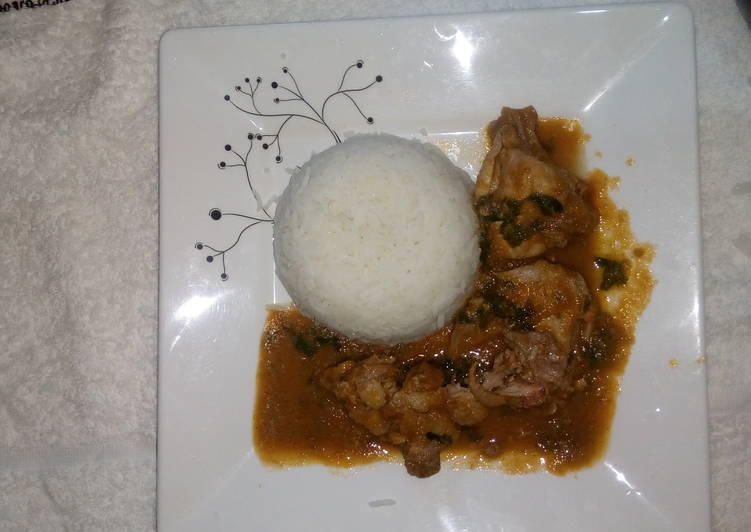 Easiest Way to Make Super Quick Homemade Rice chicken