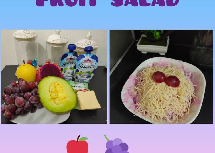 Cara membuat Salad buah low fat