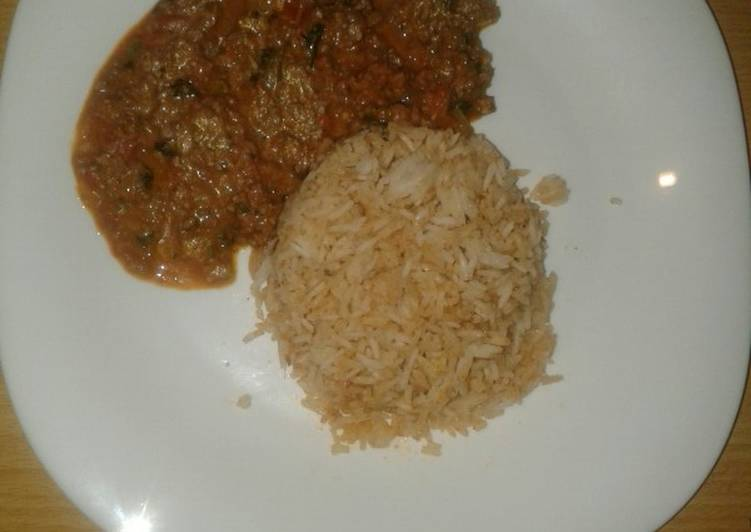 Minced meat and fried rice