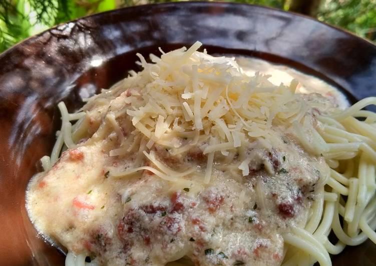 Spaghetti Carbonara Versi Hemat