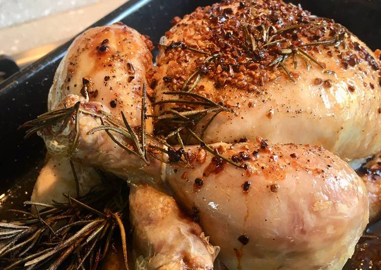 Super Tasty Rosemary and Garlic Roast Chicken