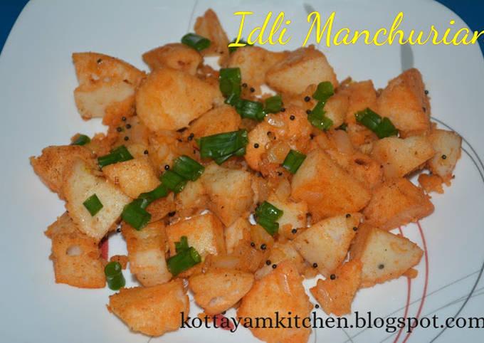 Idli Manchurian/Idli Masala -Easy snack