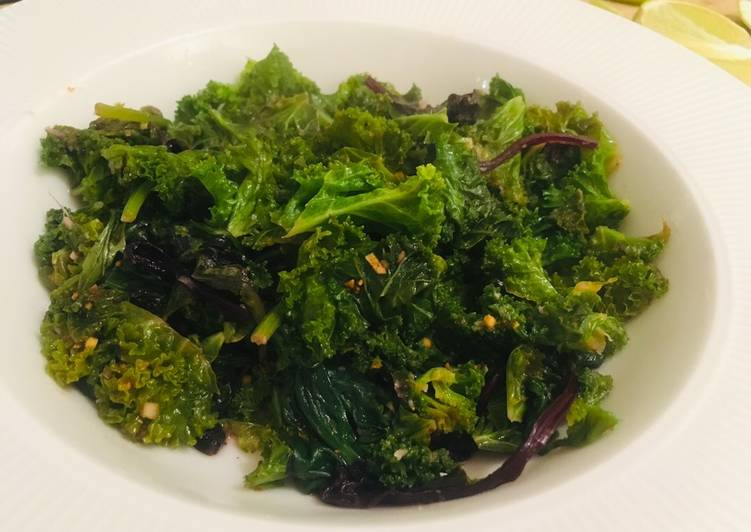 How to Make Perfect Stir fried kale 🥬
