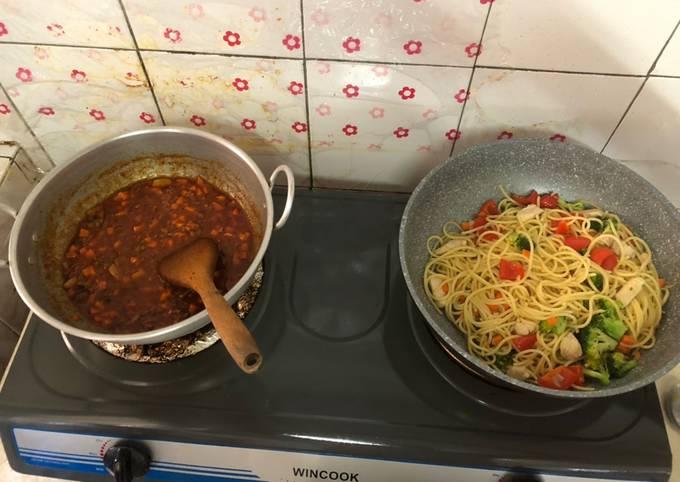 Spaghetti 🍝 and aglio o olio