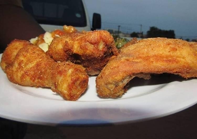 Steps to Prepare Speedy Ellis Brown Powder Milk Fried Chicken