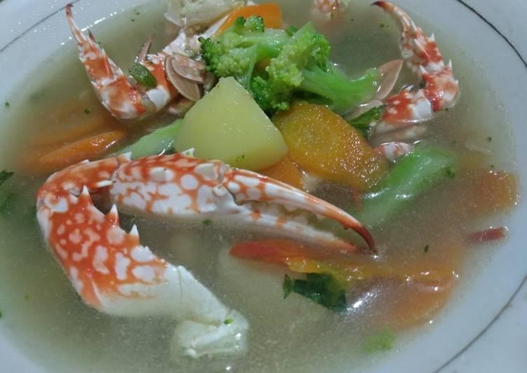 Kuah Sup Kepiting Sayur