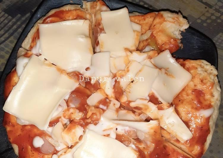 Pizza teflon keju slice