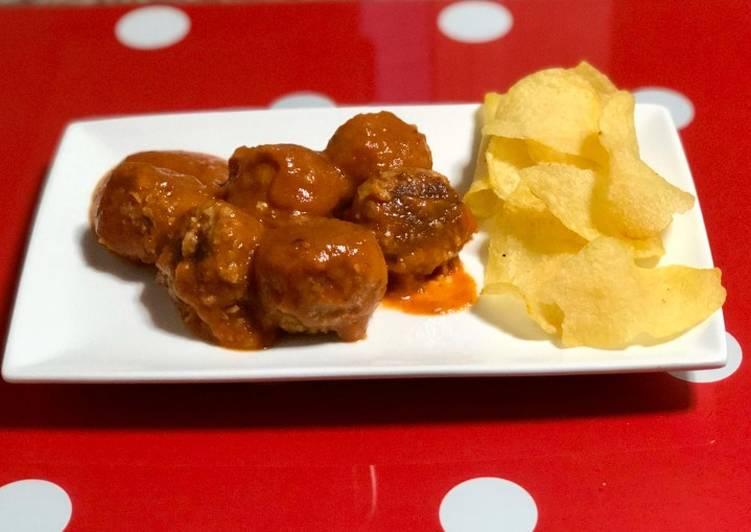 Alb贸ndigas de soja texturizada al horno 馃尡vegetariana
