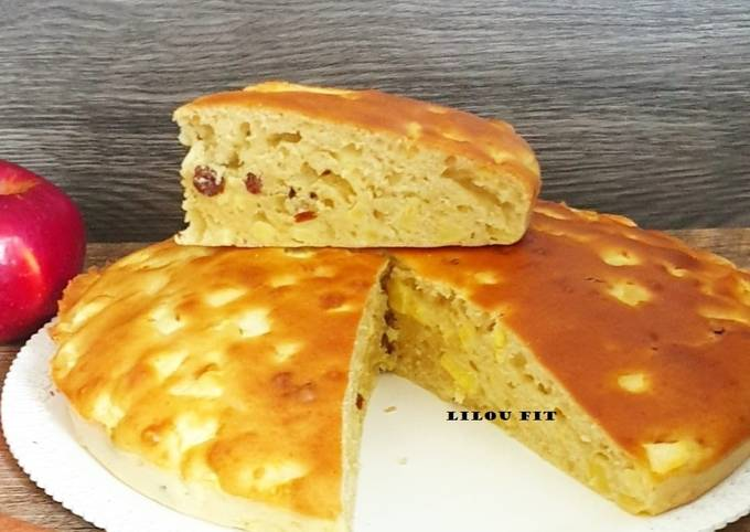 Gâteau aux pommes et raisins secs ss MG