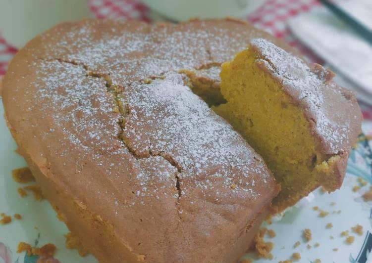 Cake labu kuning tepung mocaf