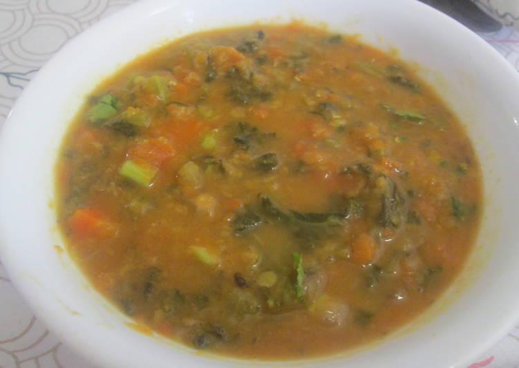 Pumkin-Carrot-Kale Soup