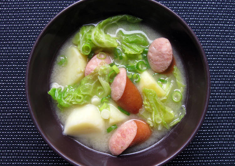 Step-by-Step Guide to Make Favorite Smoked Sausage, Potato & Cabbage Miso Soup
