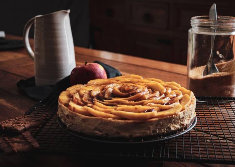 Le moyen le plus simple de Faire Délicieuse Cheesecake aux pommes caramélisées