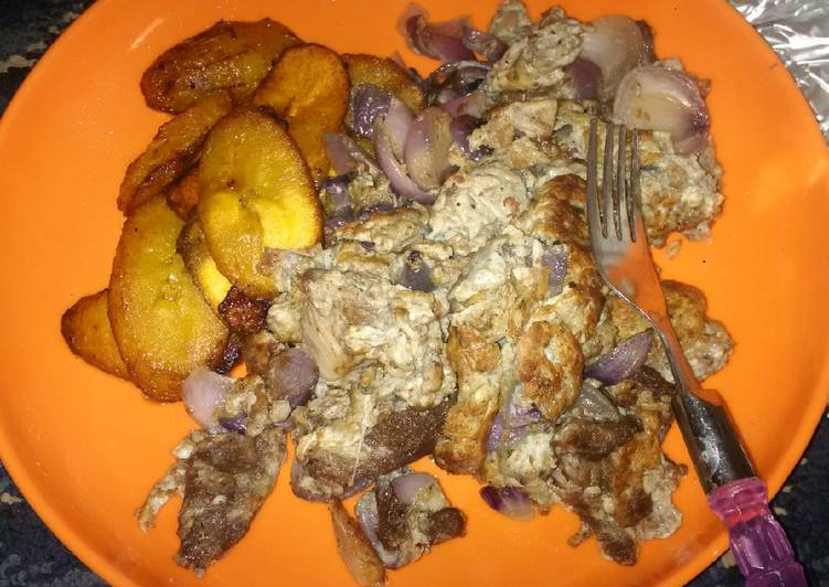 Fried Plantain and Eggs
