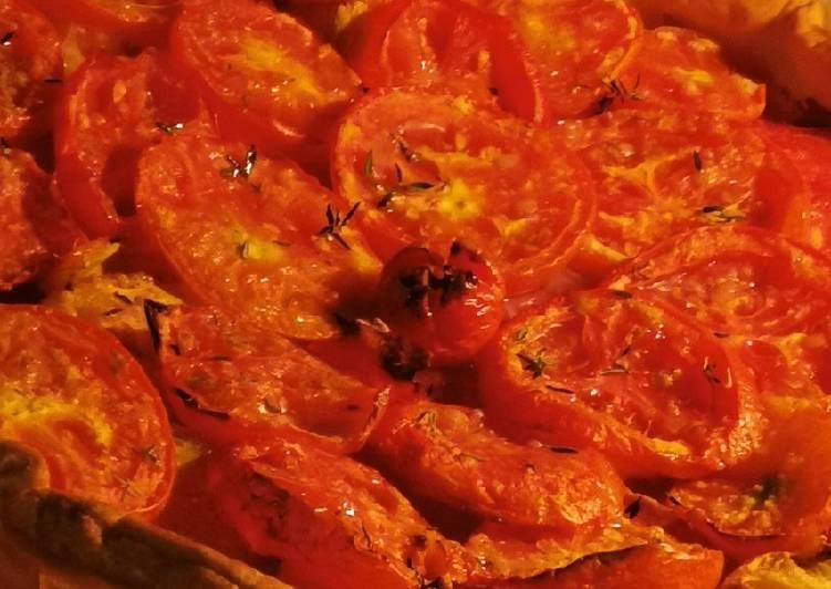 Comment Préparer Des Tarte à la tomate et jambon Forêt Noire