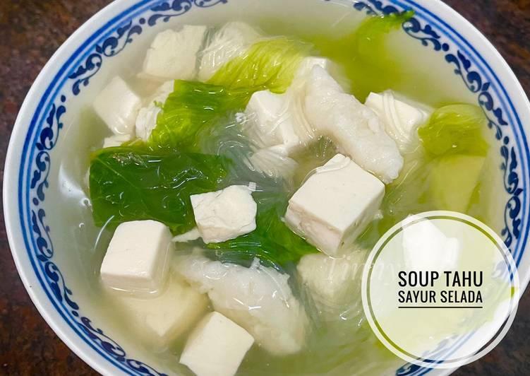 Soup Tahu Sayur Selada