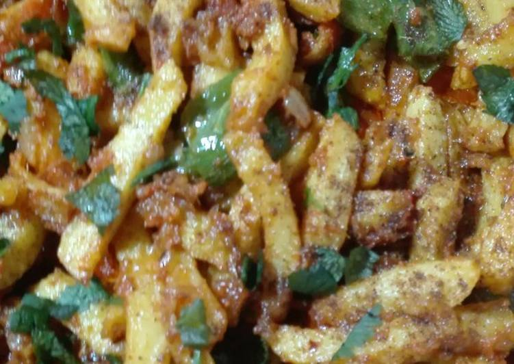 Absolutely Ultimate Dinner Easy Summer Aaloo Shimla Mirch (green Bell Pepper)