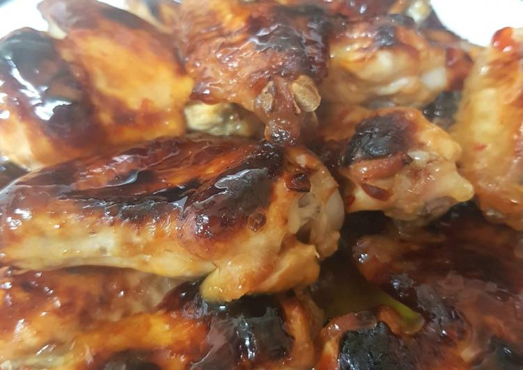 Steps to Make Homemade My Sweet Chilli Chicken Wings 😍