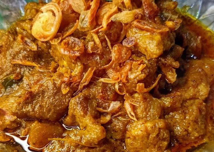 Begini Cara Membuat Rendang Daging Pedas (daging potong dadu)…