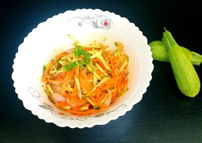 Healthy Zucchini (Courgette) Salad
