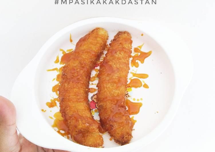 Pisang Goreng Crispy Saus Karamel - MPASI