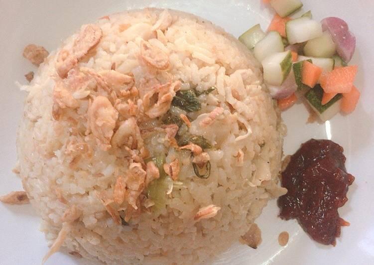 Nasi Tim Ayam simple