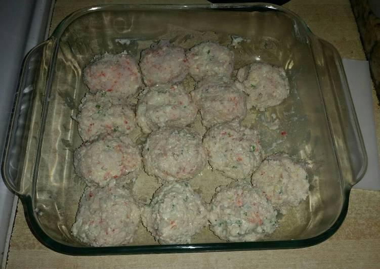 Mini crab cheese balls