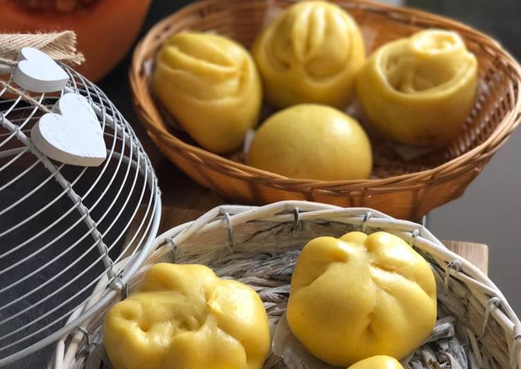 Resep PAO labu kuning tanpa tepung tanmien  (lembut dan kenyal) yang Sempurna