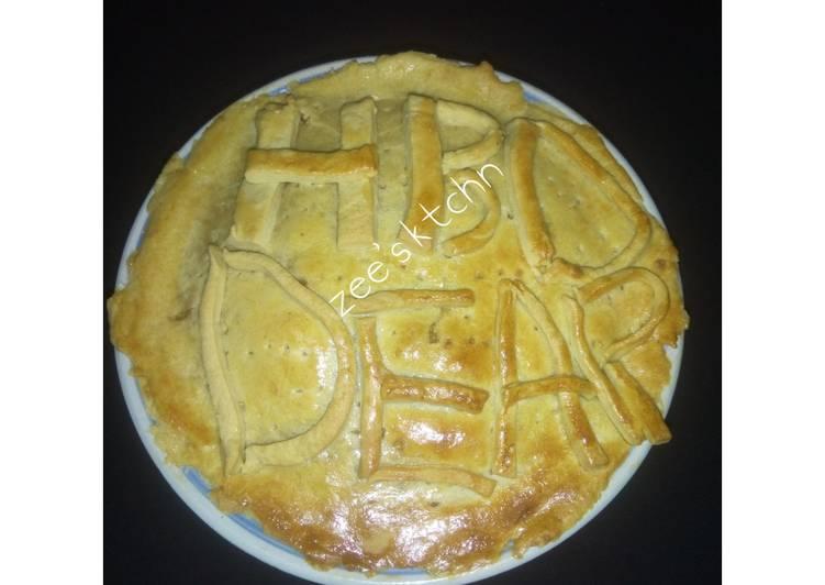 Beef/fish pan pie