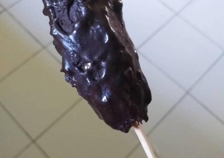 Es pisang coklat atau es kulkul