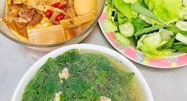 Hình ảnh món Cơm trưa : thịt,trứng kho măng
