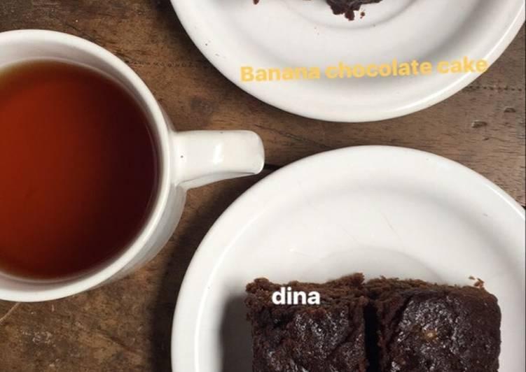 Banana coklat cake