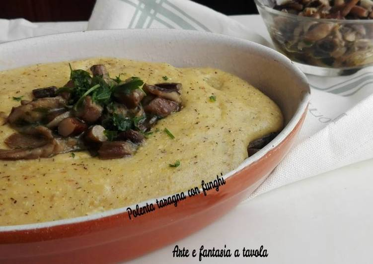 Recipe: Delicious Polenta taragna with mushrooms