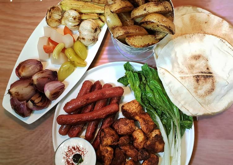 Beginners Guide To Create Good Arabic Chicken Kebabs with Herbed Potatoes