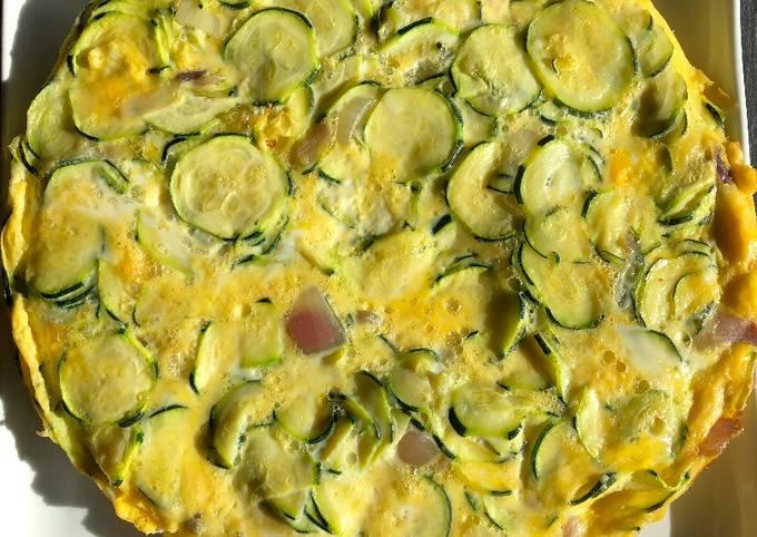 Frittata aux courgettes et parmesan