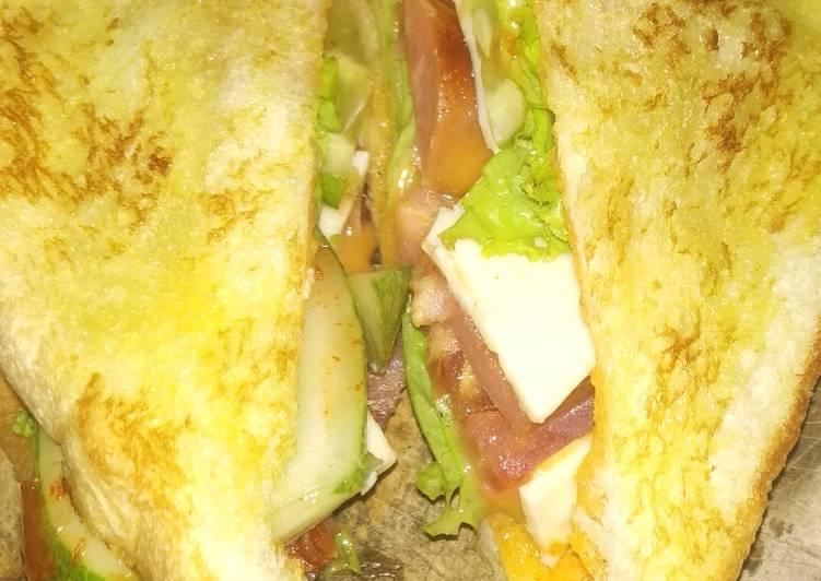 Resep Simple Sausage Sandwich ala anak kost Paling Gampang