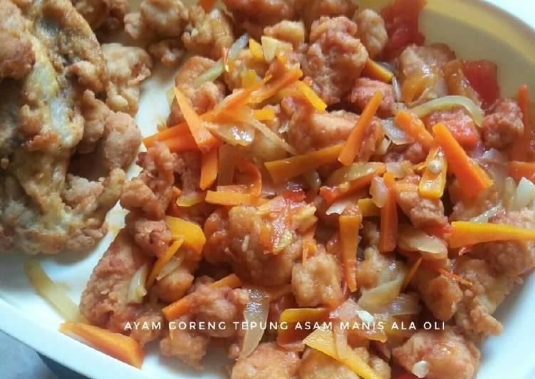 Ayam Goreng Tepung Asam Manis #RabuBaru